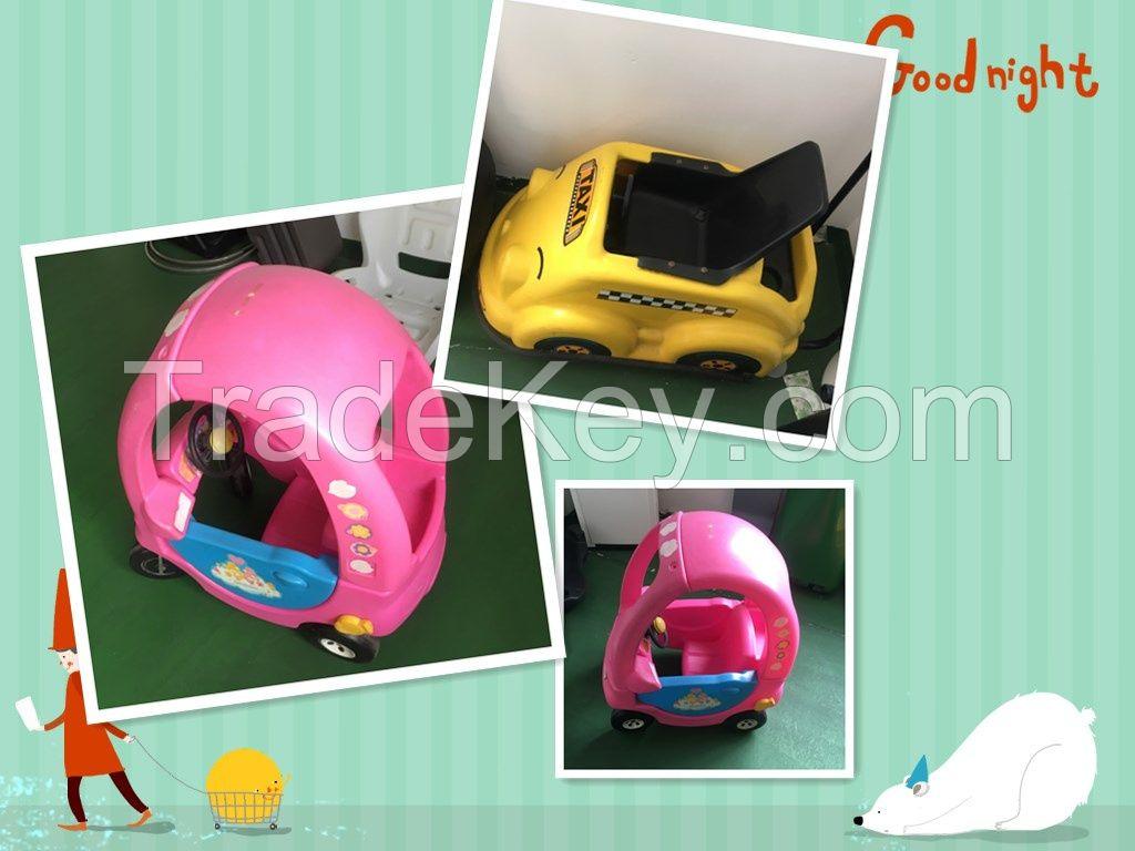 OEM rotomolding plastic toy car/ playing kids walker/ beetle car/infant walker