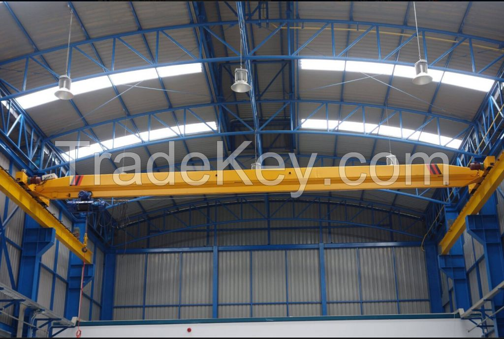 Single Girder Overhead Crane with Monorail Hoist Capacity 10 ton