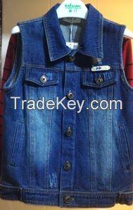 Boy's/Men's 100% Cotton Jeans Vest