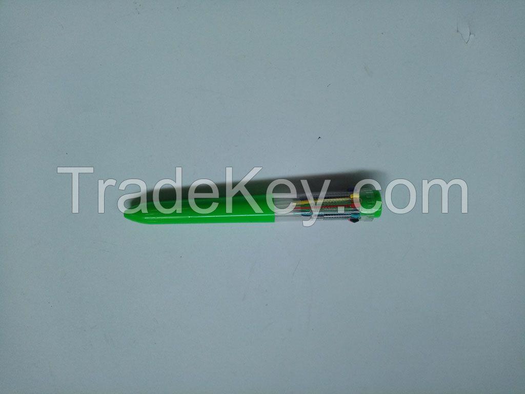 multi colour plastic ball pen