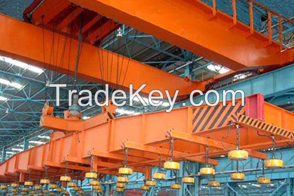 Overhead Crane with Electromagnetic Beam
