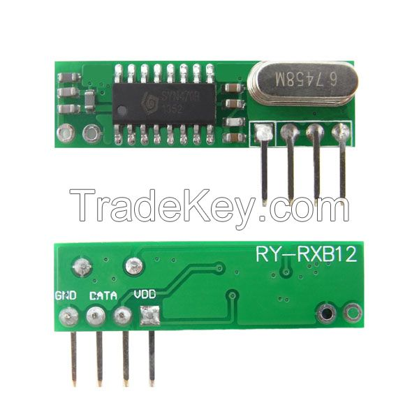 Low Cost ASK 433MHz RF Receiver Module (RY-RXB12)