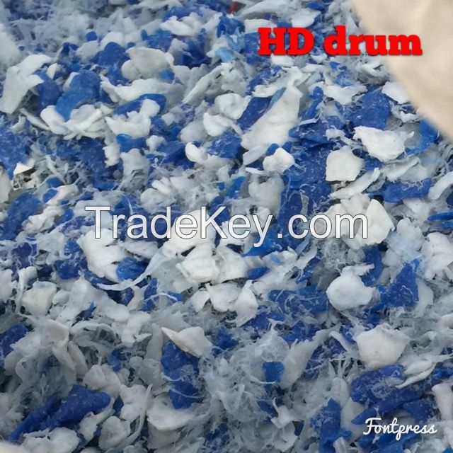 HDPE CRUSHED BLUE & WHITE Drums
