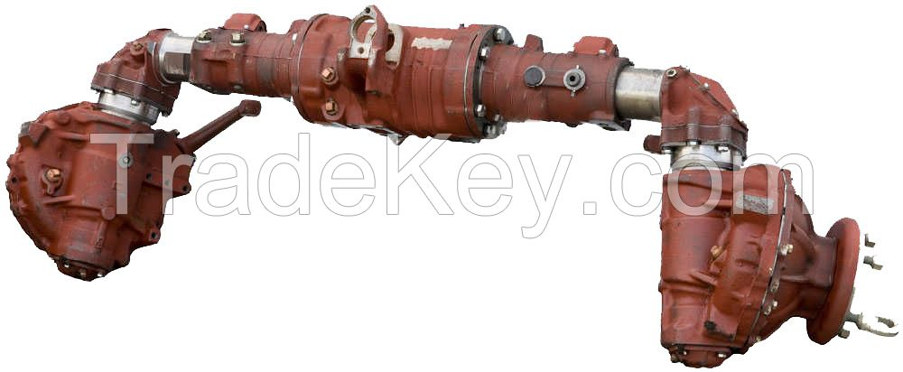 Bridge front leading tractor MTZ-82.1, a new sample (control of the pump-dispenser)