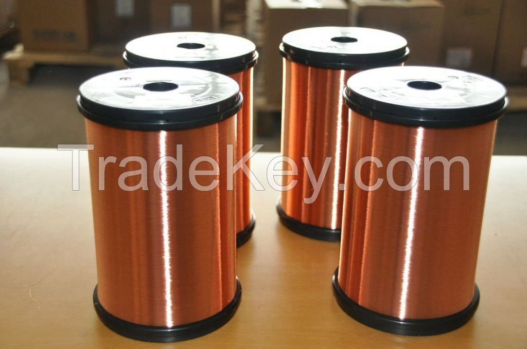 0.012mm superfine UEW 155 / 180 Solderability enameled copper wire For Motor Winding