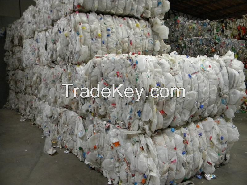 HDPE Milk Bottle Scrap Regrind / HDPE Blue Drum Scrap/ PVC Window Scrap
