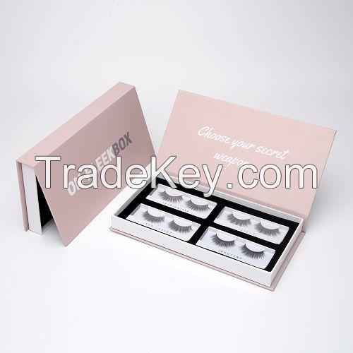 Custom marble luxury eyelash packaging box cosmetic box