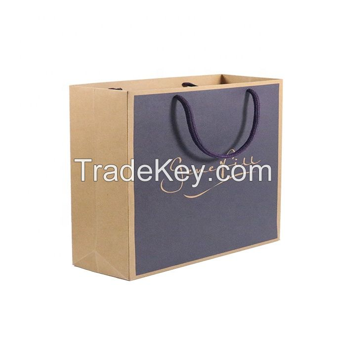 Custom printed shopping kraft paper bag
