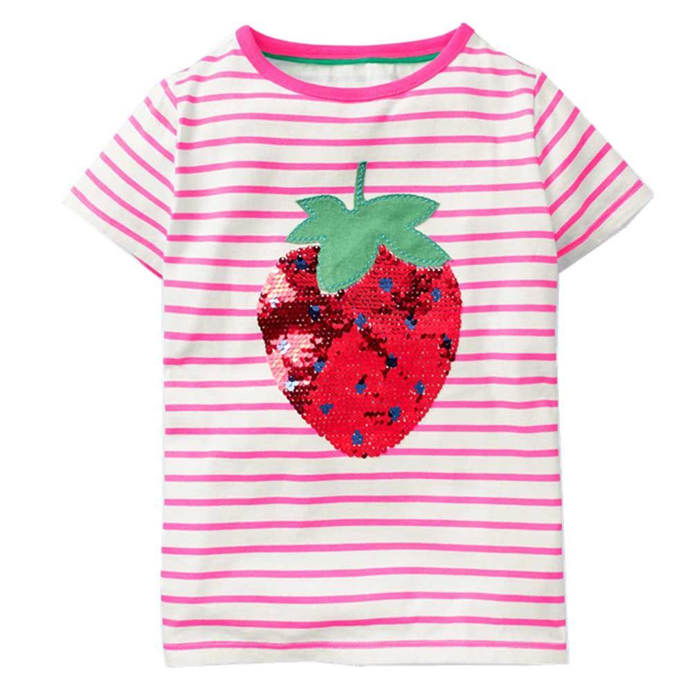 Girls Tops Summer 2019 Cute Kids Tshirt Baby Girl Clothes T-shirts Unicorn Animal Print Children T shirts for Girls Clothing