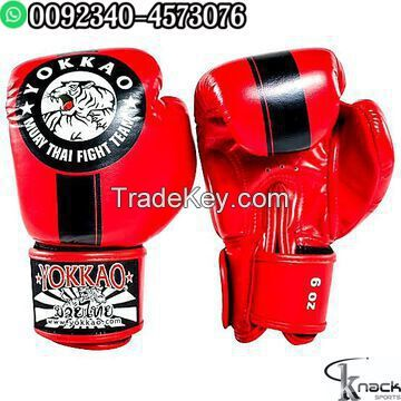 MMA UFC PU Leather Boxing Gloves Sparring Kick Thai Gym Half Mitt