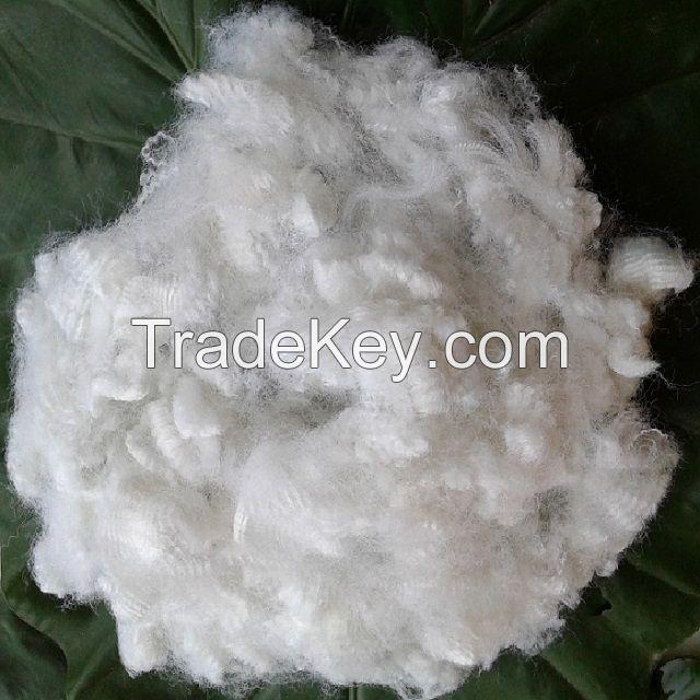 15D hollow non-silicon polyester fiber A grade