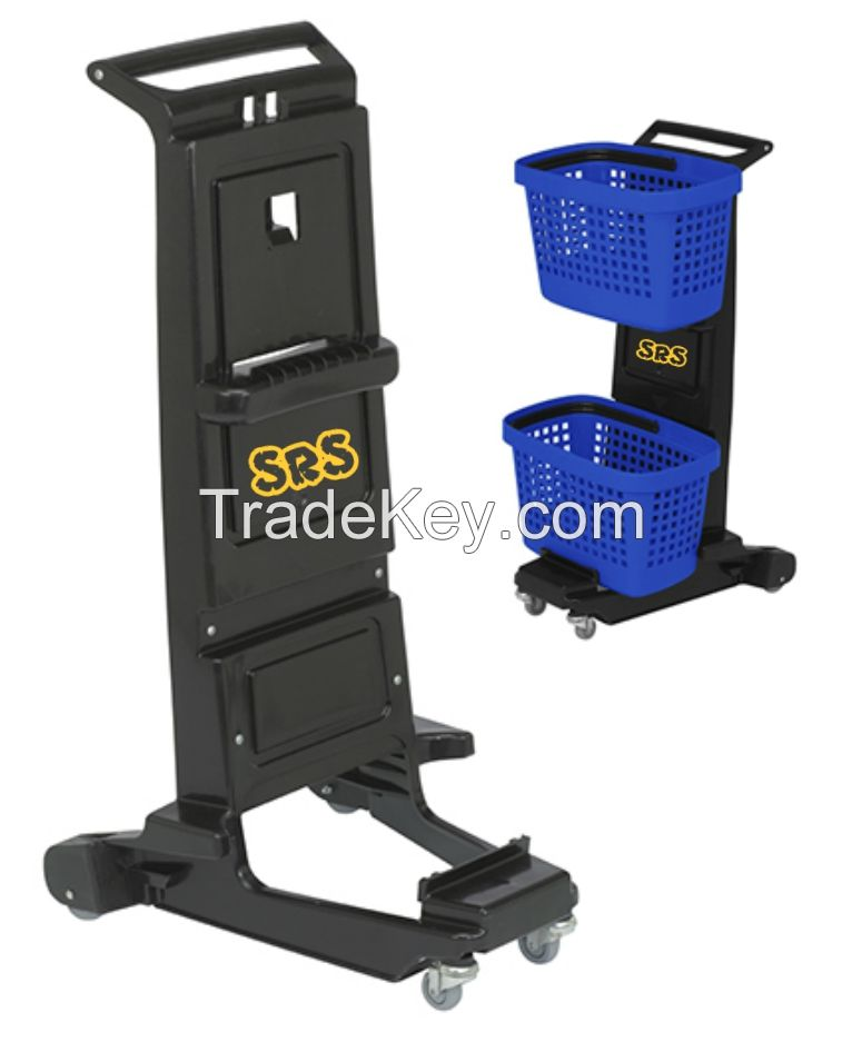 Complete Plastic Shopping Trolley