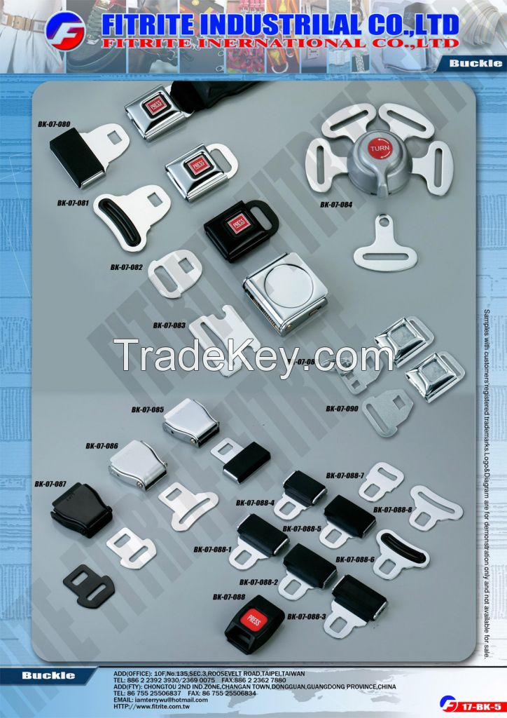 Safety Belt Buckles, Seat Buckles