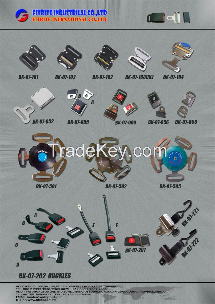 Seat Buckles, Safety Belt Fasteners, Airline Buckles