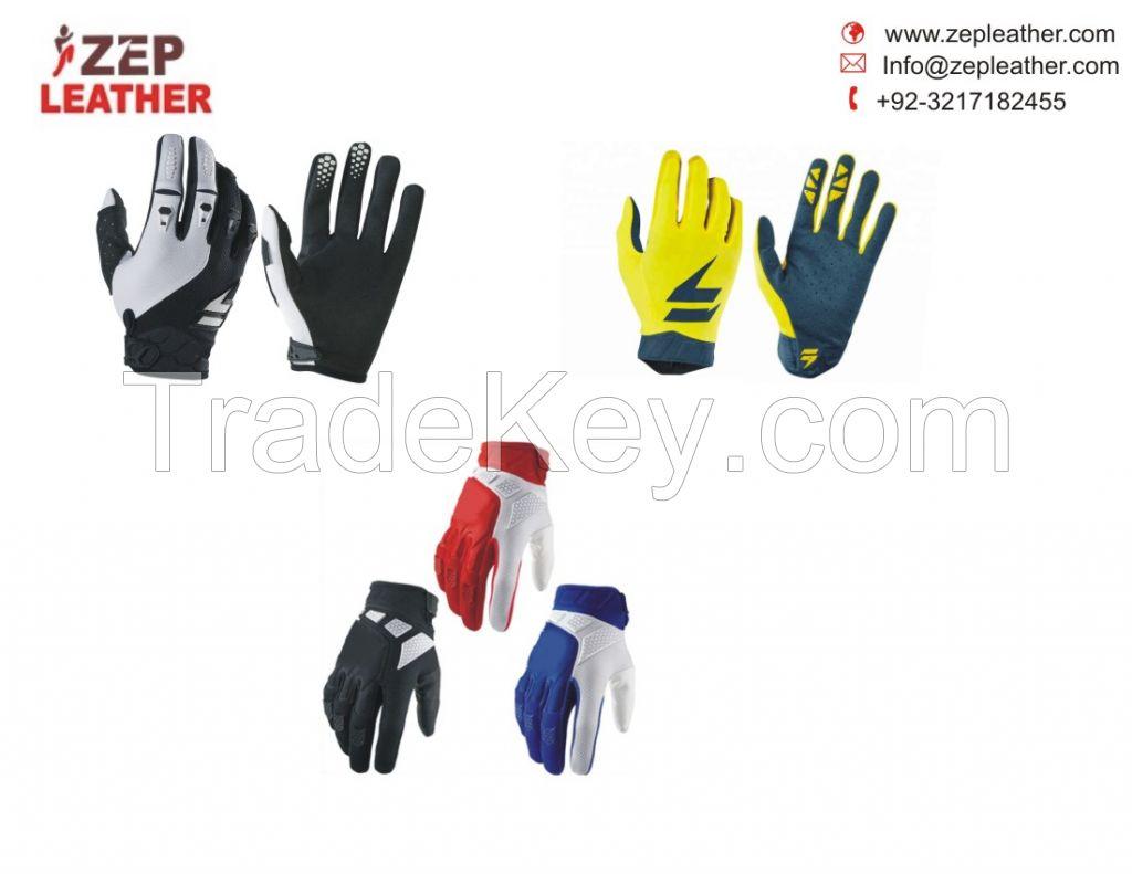 Custom made Full finger Racing Motocross Motorbike Gloves/men motorbike leather gloves/custom pro racing gloves for motocross