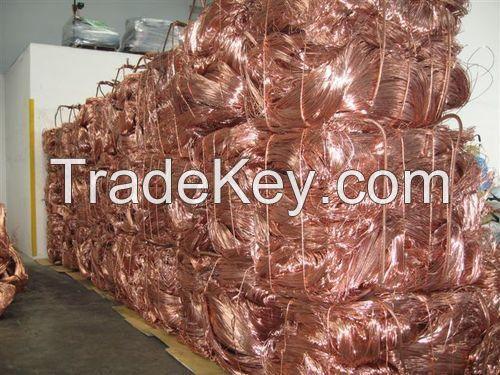 Copper Wire Scrap 99.9%/Millberry Copper Scrap 99.99%