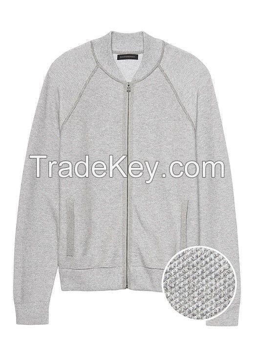 Cotton Sweater Jacket