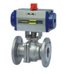 Pneumatic electric actuator pressure flow control regulating ball valve