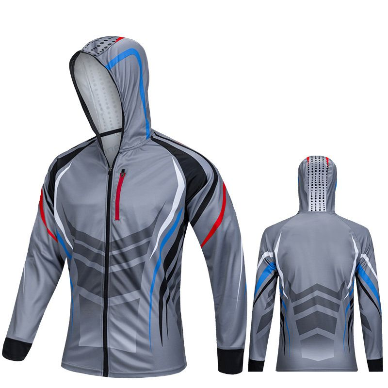 Mens Anti-UV Cool Fishing Shirts Dri Fit Breathable Clothes