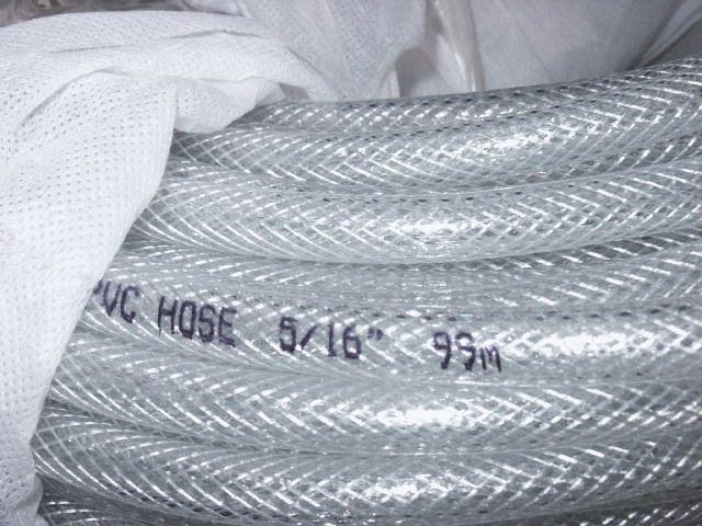 pvc reinforced water hose, pvc netting hose, clear