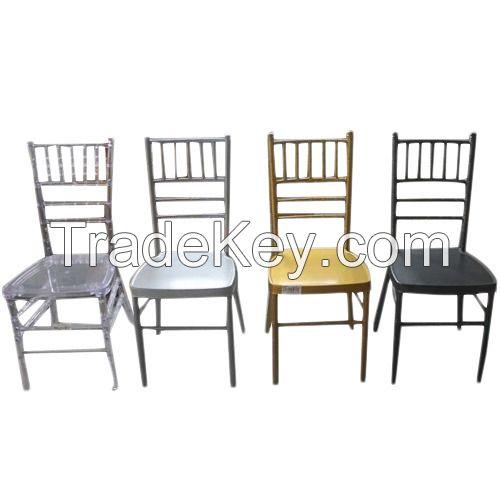 Removable Cushion Wedding Iron Aluminum Chiavari Chair