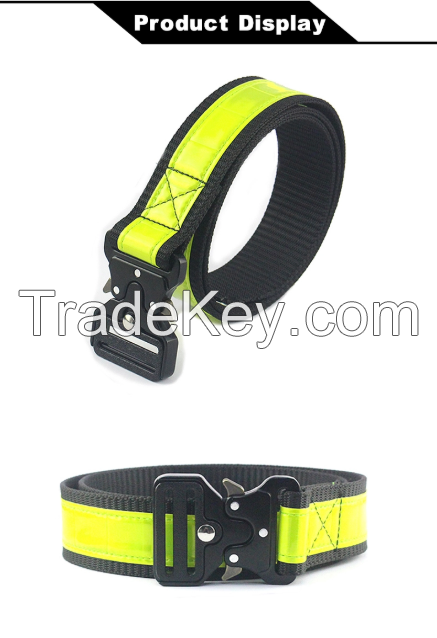 Multifunctional Climbing Equipment Reflective belt, fashion cord customized cheap cotton tactical survival paracord belt weave