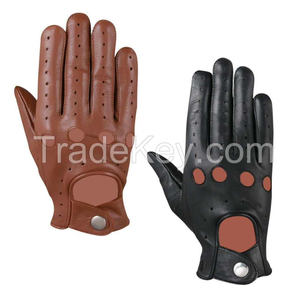 MENS CLASSIC DRIVING GLOVES SOFT GENUINE REAL LAMBSKIN LEATHER DRESS GLOVES