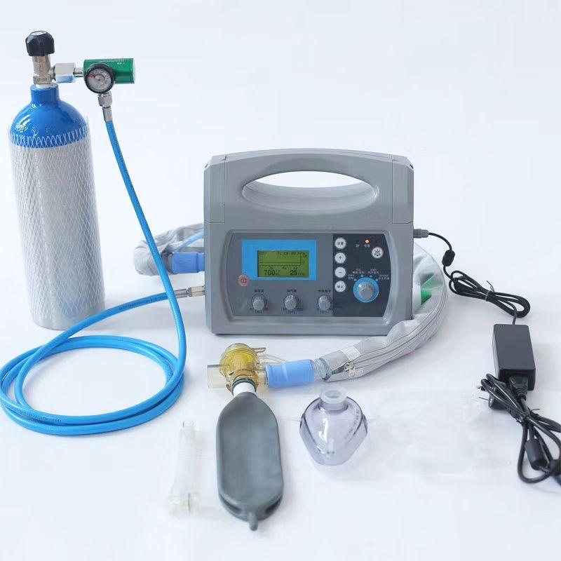 Medical Ventilator, Transport Ventilator, Breathing Equipment with Air Compressor, Portable Emergency and Transport Ventilator