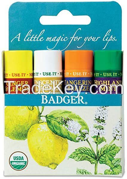Badger Classic Lip Balm 4 pack - Green 17g