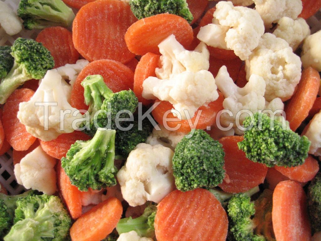 top quality IQF Frozen Mixed Vegetable Carrot Pea Green Bean Sweet Corn