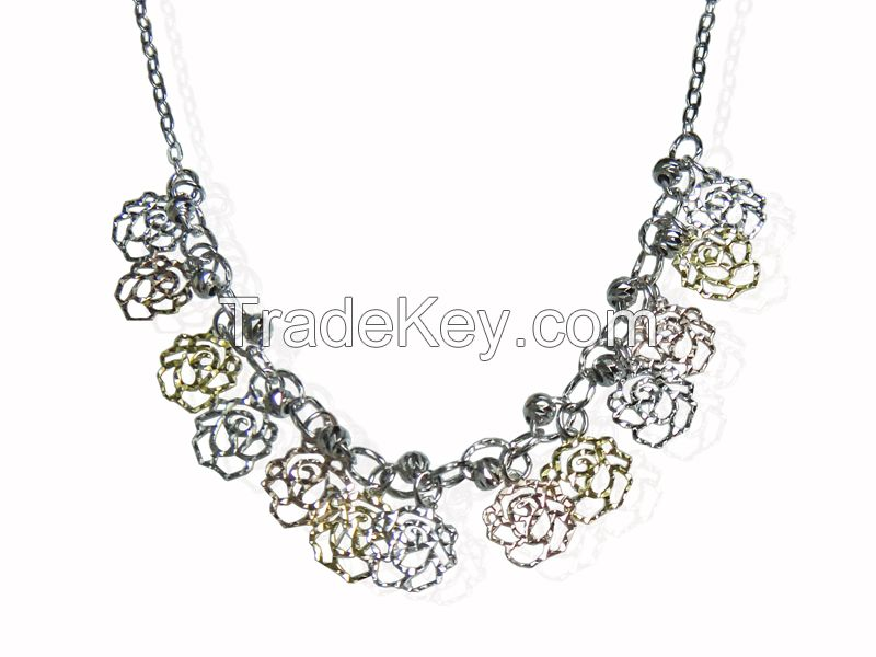 Wholesale 925 Sterling Silver Necklace Women Jewelry