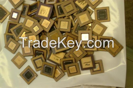Ceramic CPU Processor Gold Scrap / AMD 486 CPU and 586 CPU SCRAPS