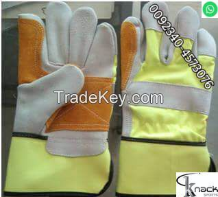 Extra double palm sheep orignal leather glvoes manufacture 12 pair dozen