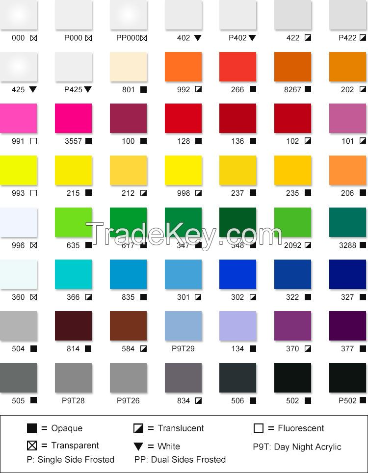 High Quality Plastic Color Pmma Cast Acrylic Sheet Free Samples