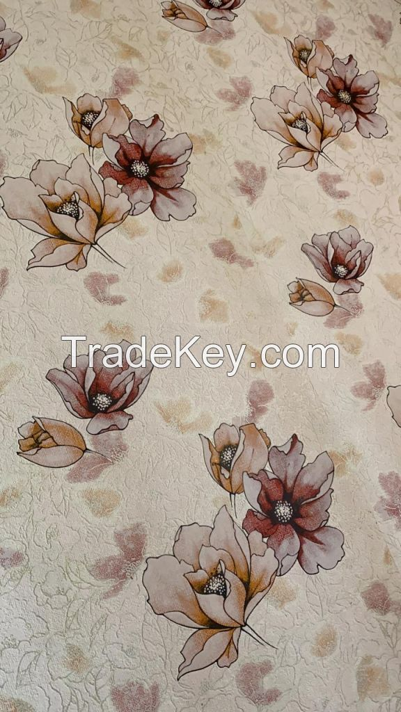 Luxury Wallcovering Beautiful Golden Rose Flower Wallpaper