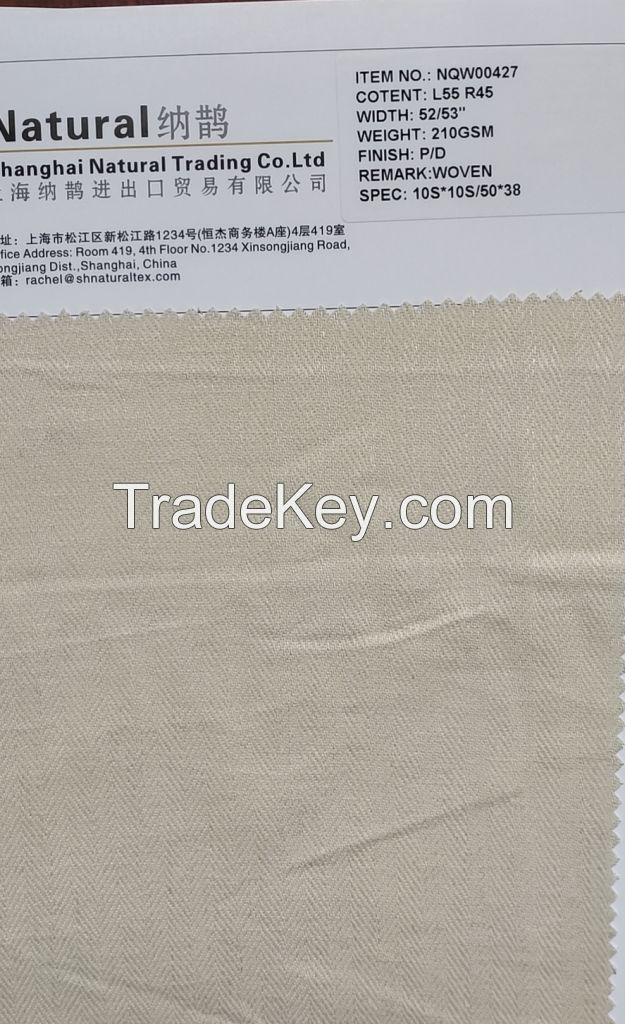 selling Linen blend fabrics
