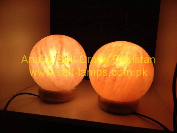 Ball or Globe Shape Crafted Salt Lamp/Himalayan Crafted Salt Lamps/ Crystal Salt Lamps and Tealights