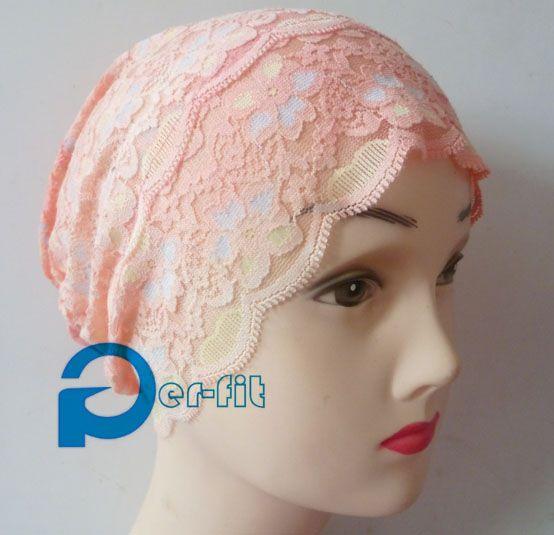 muslim underscarf lace hijab tube bonnet ninja headwrap turban chemo 2014 fashion