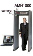 18-Zone Walk-Through Metal Detector Gate with camera, metal detector door manufacturer