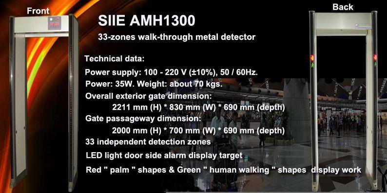 Walk-through metal detector, wlakthrough gate, high security metal detector gate manufacturer