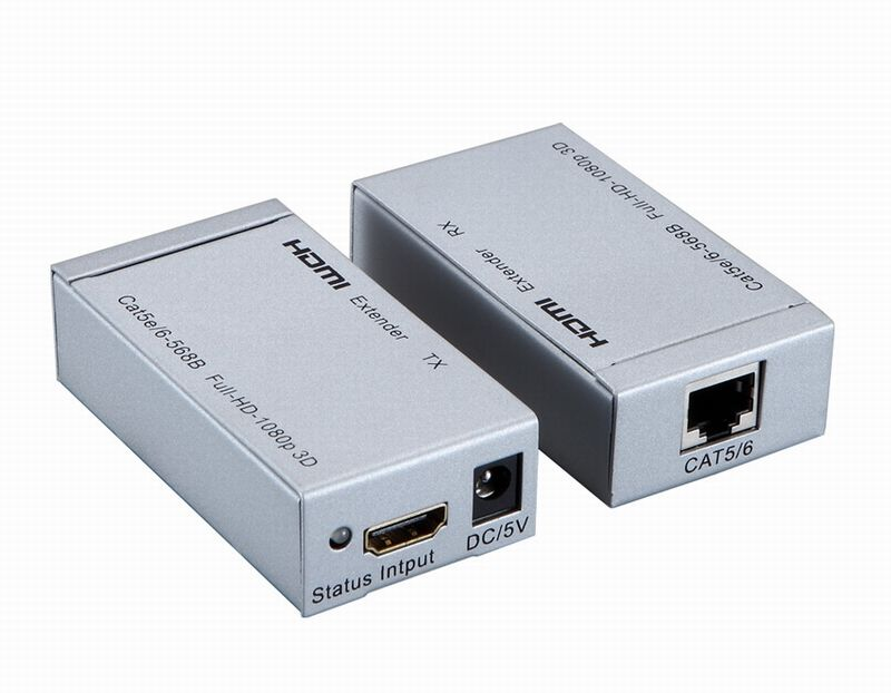HDMI Extender by Single UTP cat5e/6 cable to 60M