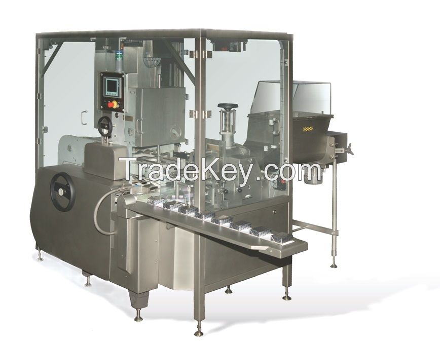 Butter filling and wrapping machine for small portions