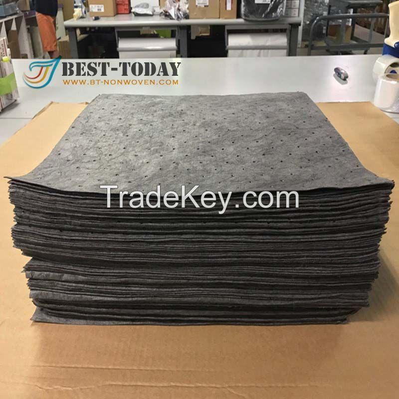 40x50cm grey 200gsm general purpose oil absorbent pads