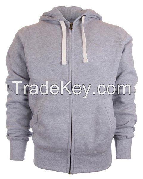 Grey Men's Zipper Hoodies.New Model 2018 / Mens Clothing Sweatshirts