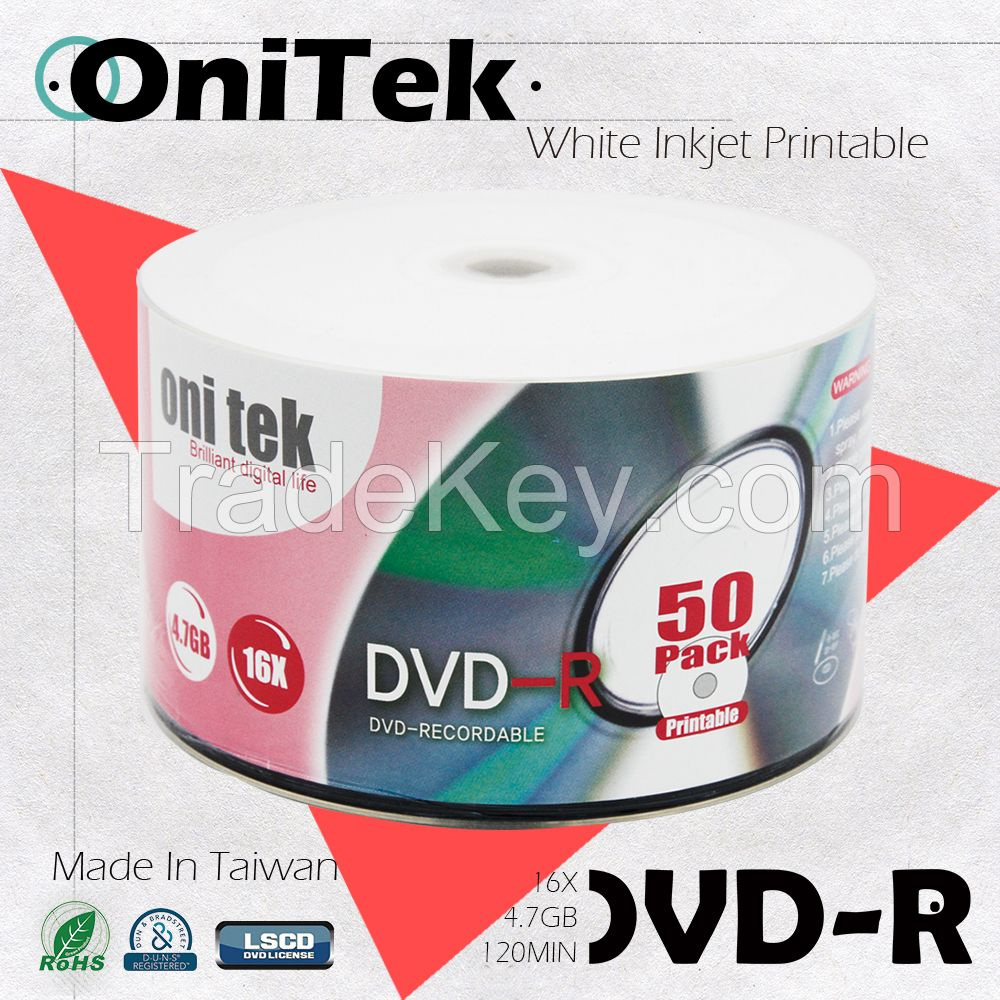 Sell Silver Shiny DVD-R 16X Best Quality Made in Taiwan/Get free samples!