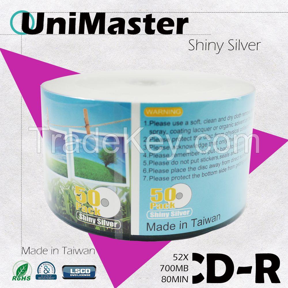 Sell UniMaster CDR 52X Inkjet Printable 50PCS/Bulk Package