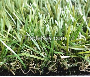 Vivid green fake grass for gardening, matched with surroundings