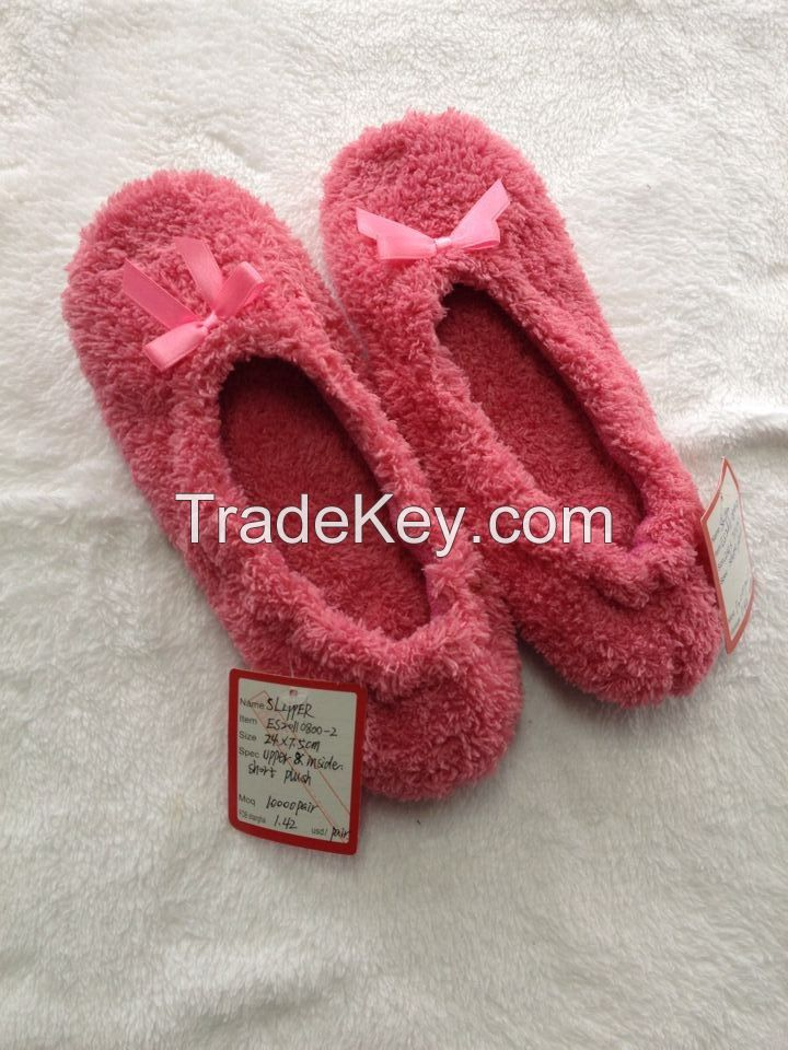 Indoor slippers, coral fleece and short plush, soft and comfortable