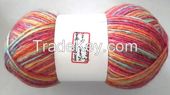 70%Wool 30%Acrylic colorful Section Dyed Roving Yarn