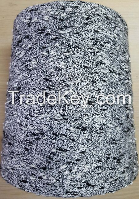 knot fancy yarn 75%polyester 25%rayon